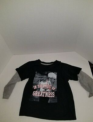 Air Jordan Long Sleeve T Shirt Black and Gray Kids 3T In the Midst of Greatness