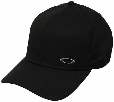 6ecc4ca84e2 Oakley New Era 39Thirty Men s Fitted Cotton Tinfoil Hat Baseball Cap Black  M L