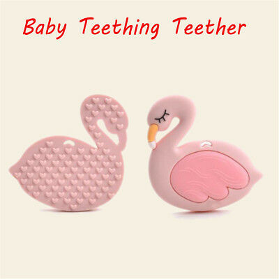 Silicone Flamingo Baby Teething Candy Wrapper Sound Teether Tooth oral trainer Q