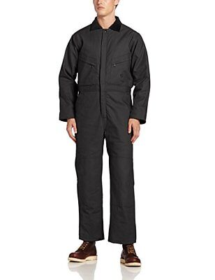 New Berne Duck Deluxe Men's Black Cotton Insulated Coveralls