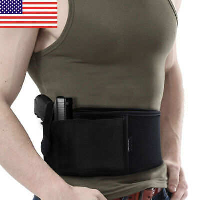 US Ultimate Belly Self-defense Carry Band Holster For Police Bodyguard Concealed
