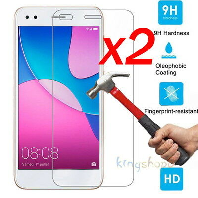 2Pcs 9H Tempered Glass Film Screen Protector Cover For Huawei P9 Lite Mini 5.0''