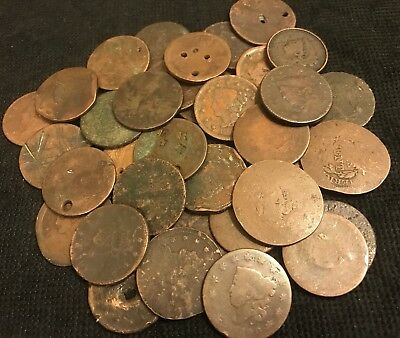 30 Cull Large Cents Lot