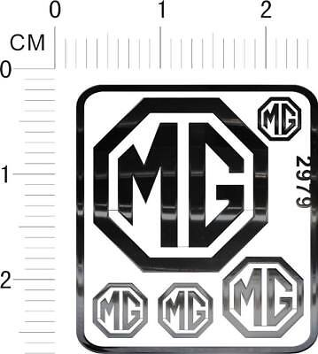 decals LAND ROVER for different scales model kits 3710 chrome Silver metal