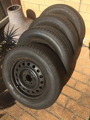 Commodore Stockie Wheels And Tyres X 4