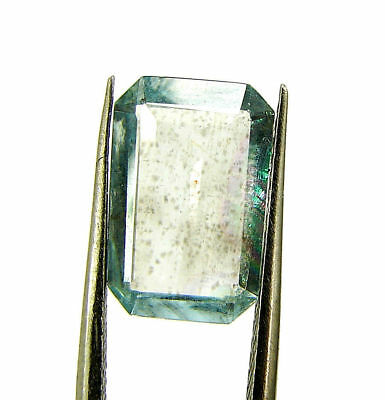 2.72 Ct Certified Natural Aquamarine Loose Octagon Gemstone Stone - 131109