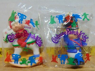 Two 1995 Avon Cabbage Patch Ornaments - Baby And Toy Soldier New In Package