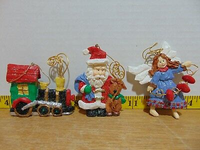 1998 Avon Gift Collection Folkart Sparkle Ornaments Set Of 3 New In Box