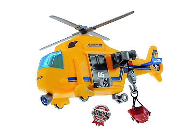 Dickie Toys Action Series Rescue Copter, Rettungshelikopter inklusiv Batterien