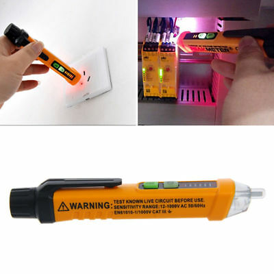 12~1000V Electrical Non-contact AC Voltage Detector Test Pen Meter Tester Alert