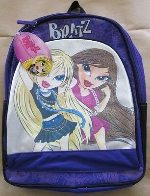 "New Nwt Cartoon Anime Mga Bratz School 16"" Backpack Zipper Closure Book Bag"