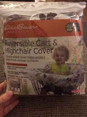 Eddie Bauer Reversible Cart & High Chair Cover floral