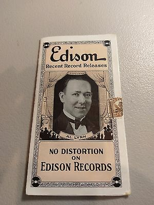 Edison Records Brochure listing new releases C B Hayes Co. Richmond  Circa 1920s