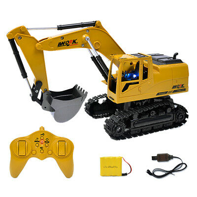 Remote Control Excavator RC Construction Tractor Vehicle Truck Toy Digger 1:24