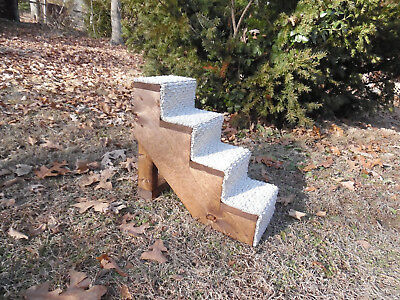 "Pet Stairs Pet Steps Handmade Wooden 16"" H x 8"" W Cat Puppy Dog Stairs New"
