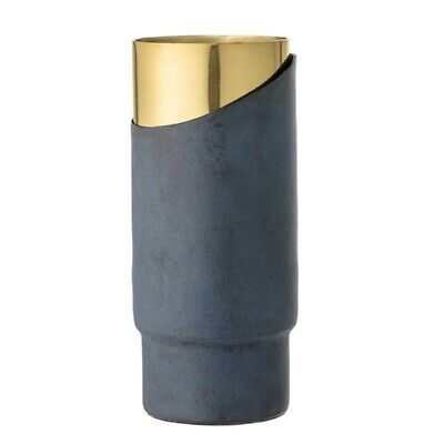 Vase Metall Blau/Gold Bloomingville