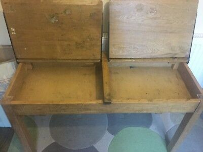 Vintage double school desk