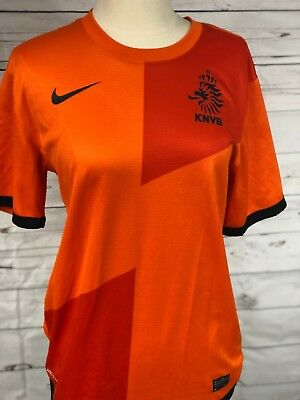 Authentic Nike Holland Netherlands 2012 13 Orange Home Soccer Jersey Men  Small 0e8bf31a7