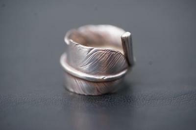goro's All Silver Oversized Feather Ring SILVER 11