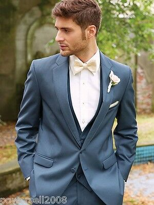 Custom Made Fashion Gentleman Teal Regular Two Button Formal Wedding Suits !