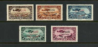 Syria 1936  #C67-71  aviation Damascus Fair OVERPRINTED   5v.  MH  L580