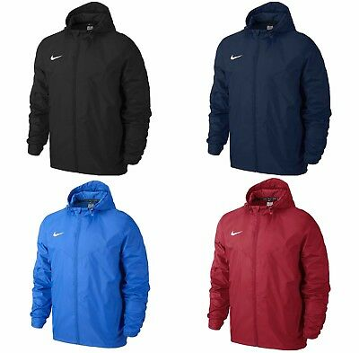 563f0b4a1 Nike Mens Team Sideline Rain Jacket Waterproof Wind Breaker Coat Hoodie  Raincoat