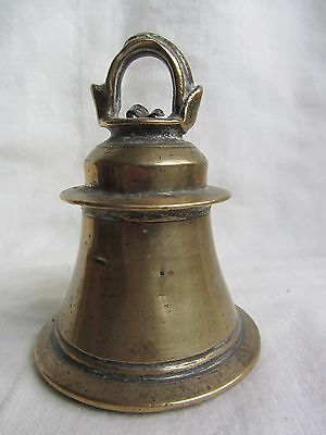 Antique Indian Brass Hindu Temple Bell