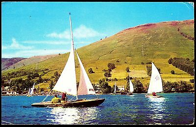 Postcard - Sailing Galoch Earn Perthshire Scotland Posted Pink 2 1/2 P Stamp