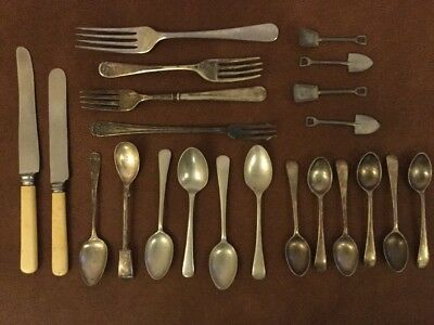 22pc Assorted Cutlery, mostly Vintage EPNS & Stainless Steel, Savoy, Surrey