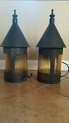 pair of exterior antique lights