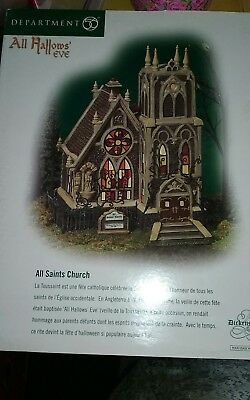 Dept 56 All Hallows Eve ~ All Saints Church ~ 58707 Dickens Village in box