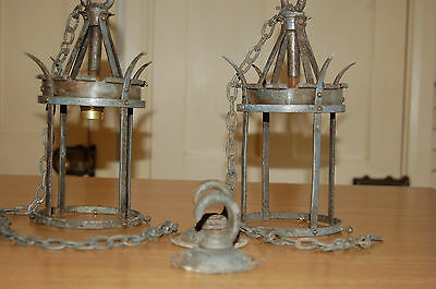 vintage antique ARTS & CRAFTS MOVEMENT  HANGING LIGHTS   rare and quality