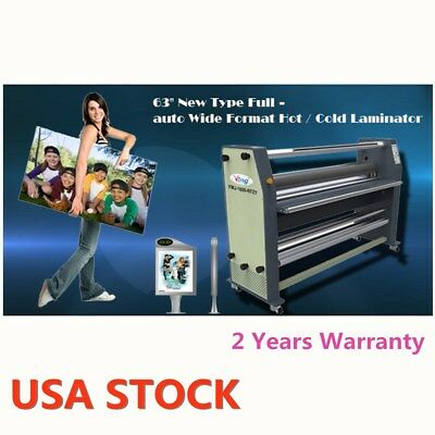 """US STOCK 63"""" 2500W High End Full-auto Wide Format Hot Laminator AC110V 60Hz"""