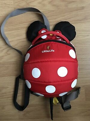 Little Life Minnie Mouse Backpack/ Reins Daysack