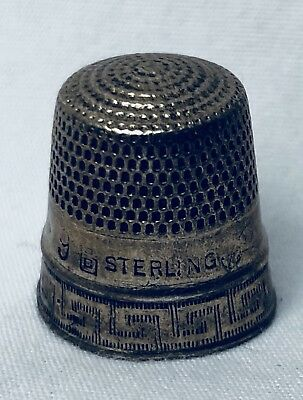 Antique Sterling Silver Thimble Size 9 Sewing Collectible