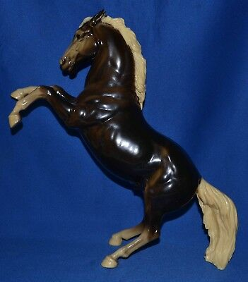 Breyer~1961-71~King~Glossy Charcoal Fighting Stallion~LOOK~OLD!