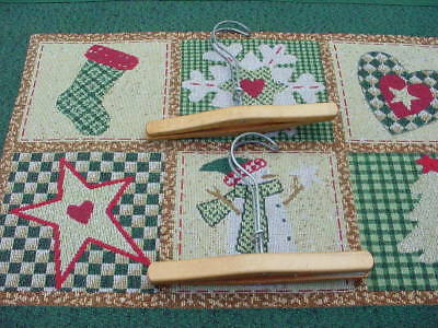 2 Vintage Wooden Pant Skirt Clamp Cloths Hangers