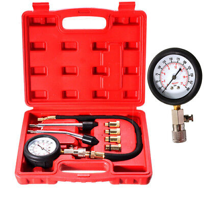 8pcs/set Petrol Gas Engine Cylinder Compression Tester Kit Car Diagnostic Tool