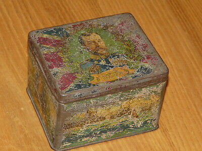 Antique Tin Box H.M King George V - H.M. Queen Mary - H.R.H. The Prince of Wales