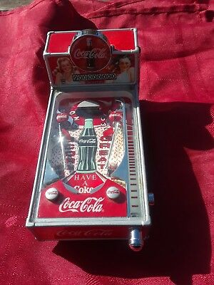 Coca Cola Collectible Pinball Machine Musical Light up Bank Works Great!