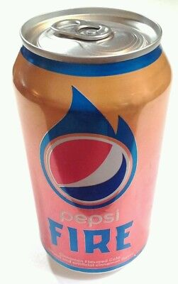 PEPSI FIRE LIMITED EDITION NEW CANS UNOPENED. 12 fl oz    4 collecters!