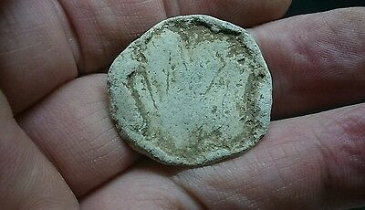 Lovely personal Roman Lead gaming piece/plaque with some nice detail uk find