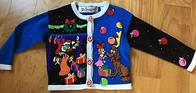 Michael Simon  Dr. Seuss Grinch Christmas Sweater Cindy Lou Toddler Girl's 4T