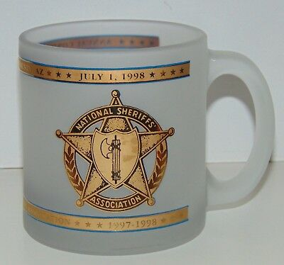 National Sheriffs Association Annual conference frosted coffee mug 1998