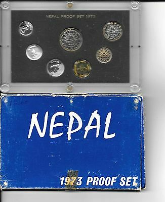 1973 Nepal Original Government Issued Proof Set (7 pc)