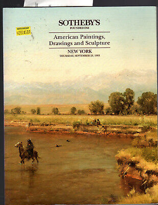 Sotheby's Ny 09/23/93 American Paintings, Drawings & Sculpture