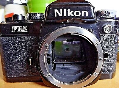 Ewc Students Nikon Fe2 Black Body - Working Meter - Made In Japan - Free Ship Us