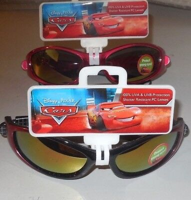 2 Pair Disney Pixar Cars Lightning McQueen & Pit Crew 95 Kids Sunglasses NEW