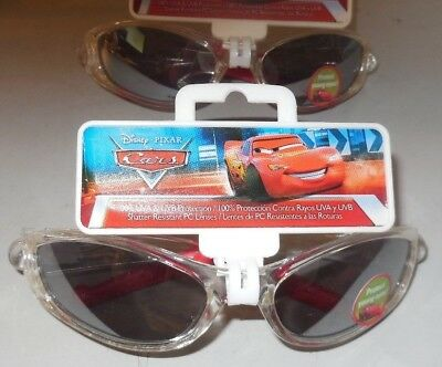 2 Pair Disney Pixar Cars Pit Crew 95 Kids Sunglasses 100% UVA UVB Protection NEW