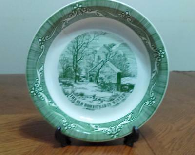 "Vintage German Green Pie Plate - 10"" - Marked"